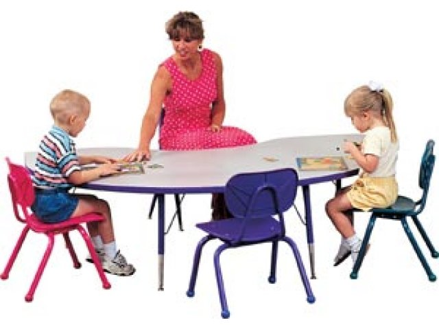 Prima Adjustable Kidney Activity Table 72x48 Classroom Tables