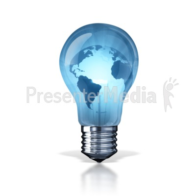 World Energy Light Bulb Presentation Clipart