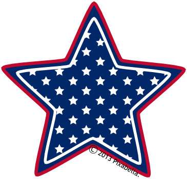 Star American Flag Clipart - Clipart Kid