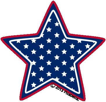 Star American Flag Clipart - Clipart Kid