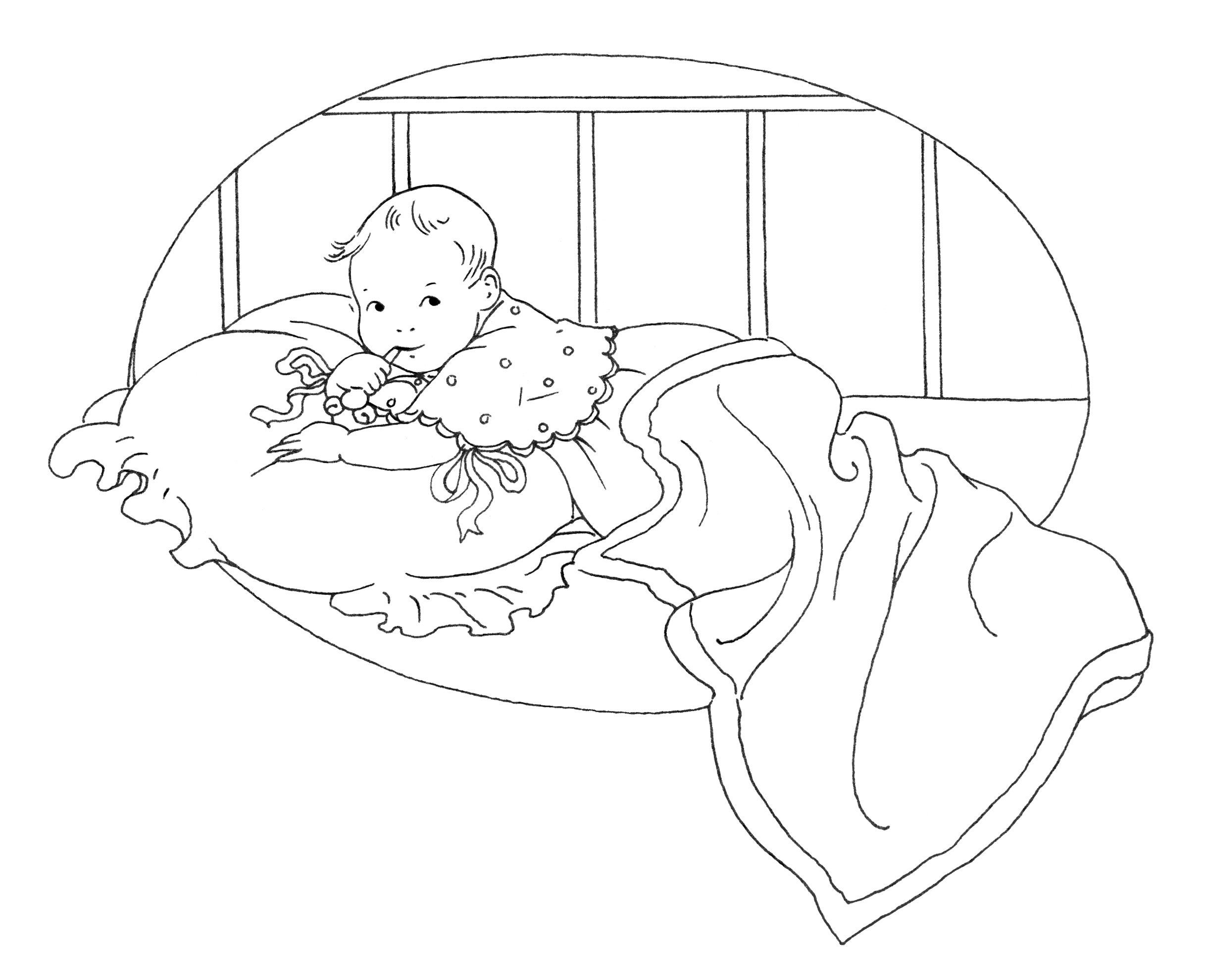 Baby Girl Clipart Black And White Baby Clipart Black And