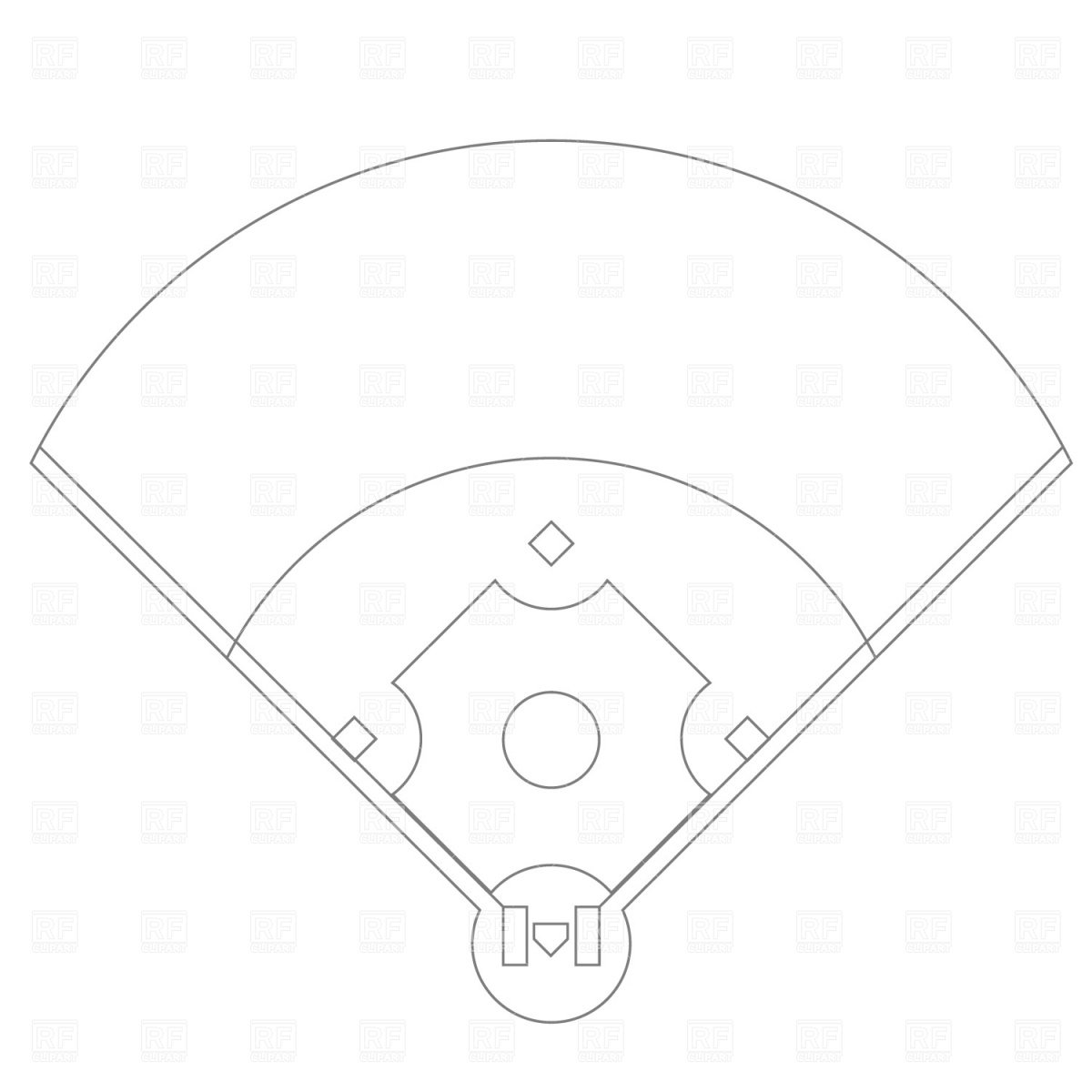 Softball Diamond Clipart - Clipart Kid