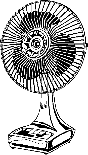 Fan Black And White Clipart - Clipart Suggest