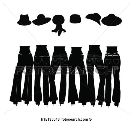 Clip Art   Ladies Wearing Jeans Silhouette  Fotosearch   Search