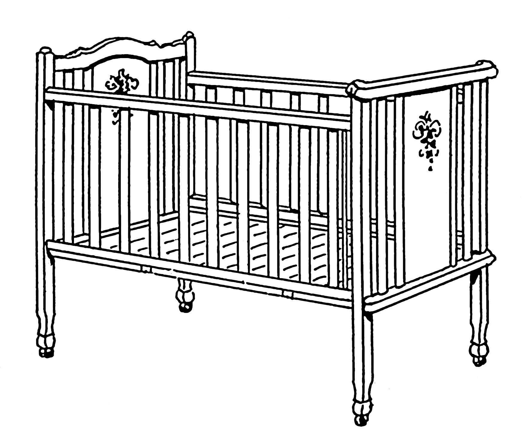 clipart baby cradle - photo #39