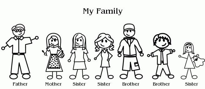 Family Of 6 Clipart - Clipart Kid