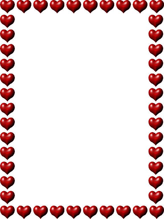 hearts border clip art clipart best