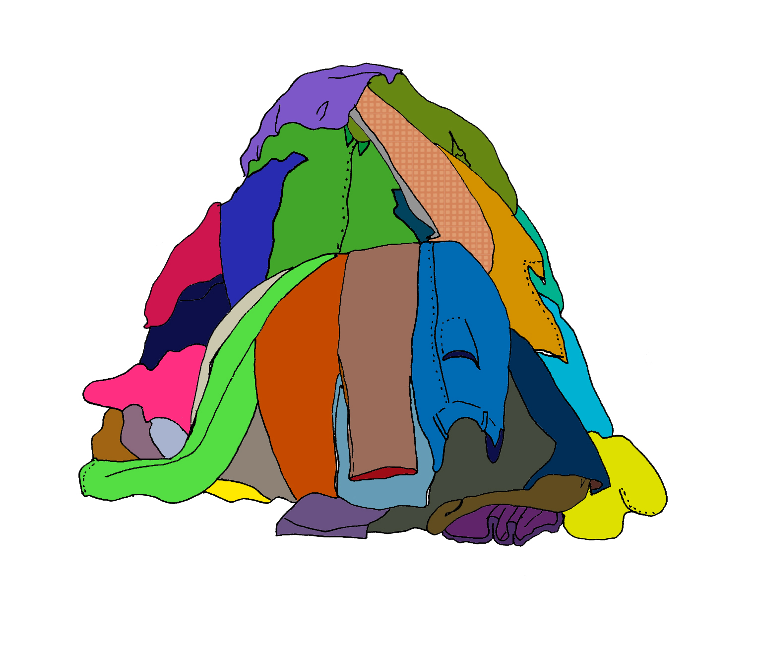 Pile Of Clothes Clipart - Clipart Kid