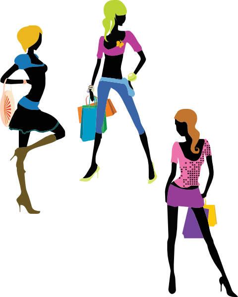 Shopping Girls Clip Art At Clker Com   Vector Clip Art Online Royalty