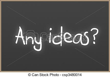 Text Any Ideas   Chalkboard With Wooden    Csp3480014   Search Clip