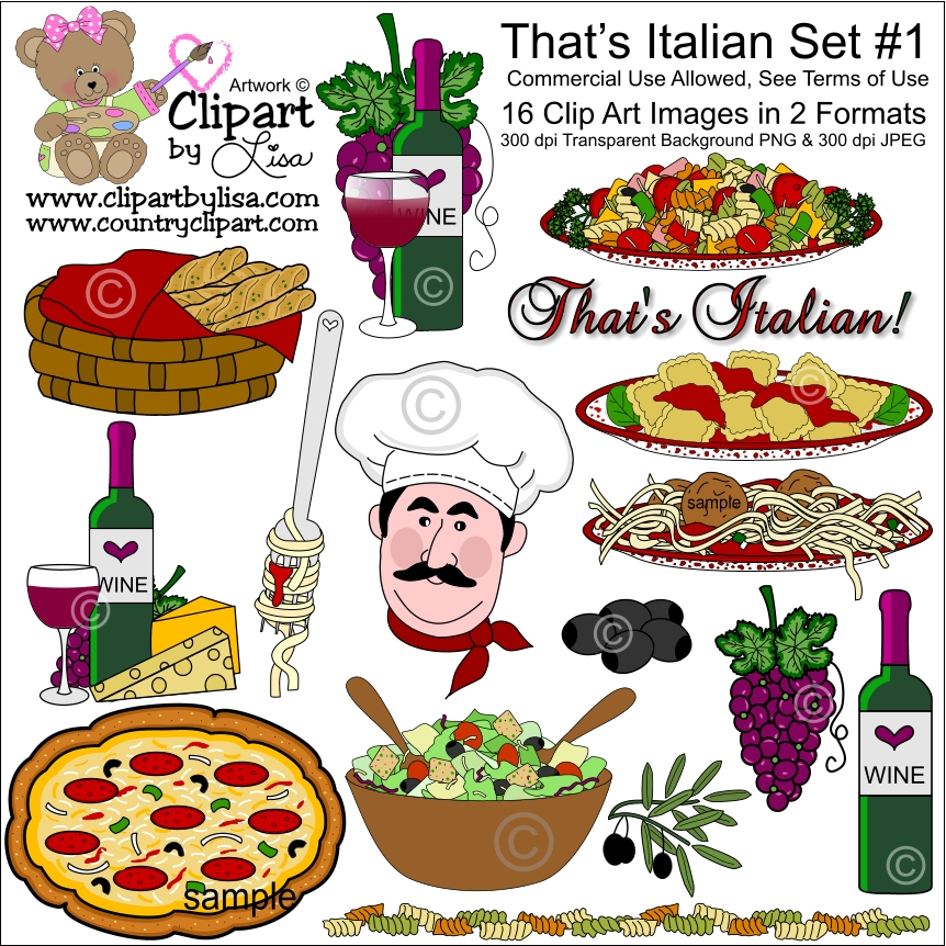 That S Italian Clip Art Set 1