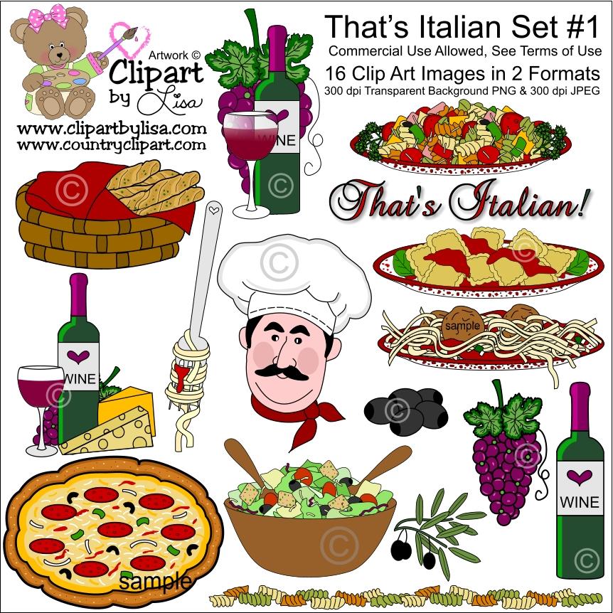 That's Italian Spaghetti Clipart - Clipart Suggest