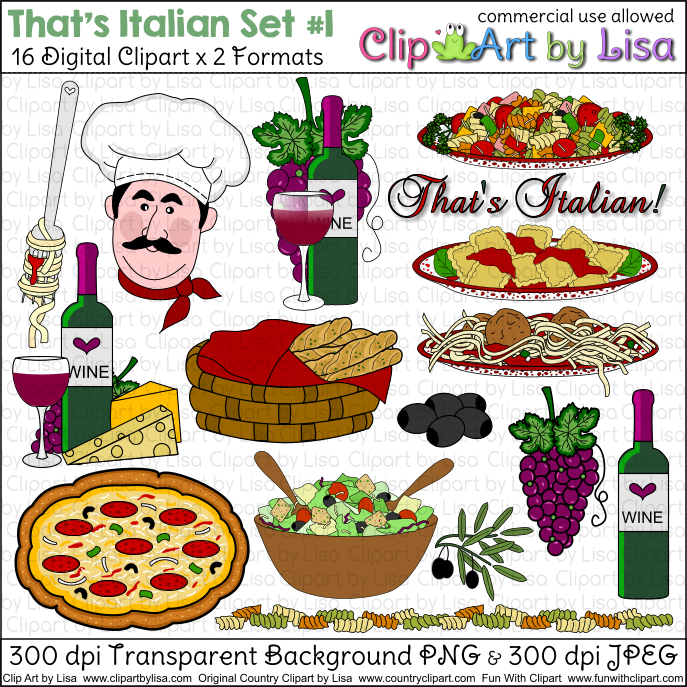 That S Italian Clipart Set 1 Kitchen   Food Clip Art