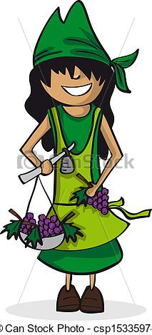 Vector   Profession Farmer Woman Cartoon Figure    Stock Illustration