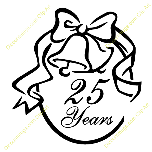 25 Year Anniversary Clipart - Clipart Suggest