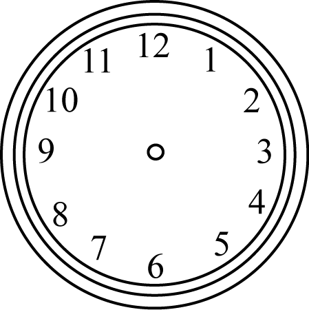 Black And White Clock Without Hands Clip Art Black And White Clock