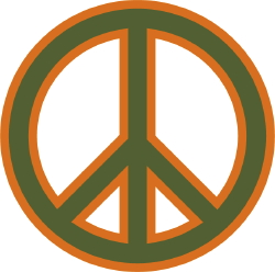 60s peace sign clipart clipart suggest