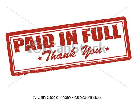 paid in full stamp clipart clipart suggest