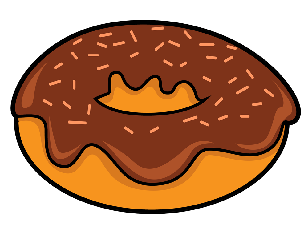 Cartoon Donut Clipart - Clipart Kid