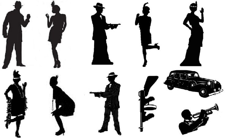 Gatsby Party Clip Art Google Search Gangster Ideas
