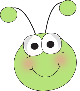 Grasshopper Face Clip Art Image   Cute Grasshopper Face With Big Eyes