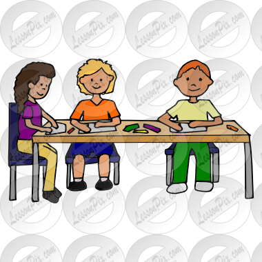 Students Working At Table Clipart - Clipart Suggest