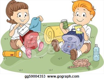 Kids Unpacking Their Belongings  Stock Clipart Illustration Gg59004353