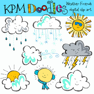 Our Products    Weather Friends Digital Clip Art