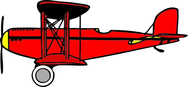 Clip Art Biplane Clipart biplane clipart kid red clip art at clker com vector online royalty