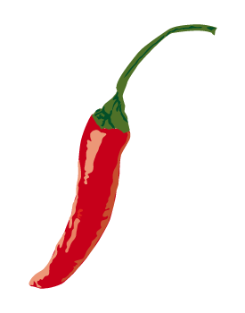 Red Chili Pepper Clipart 02