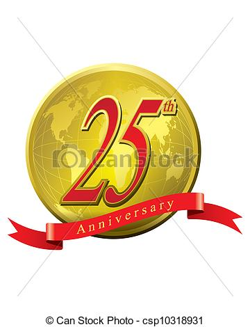 Vector   25 Years Anniversary   Stock Illustration Royalty Free