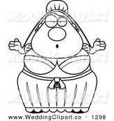 Cartoon Marriage Clipart Of A Wedding Black And White Shrugging Bride