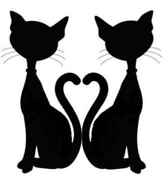 Cat Graphics Silhouettes On Pinterest   Cat Silhouette Black Cats And
