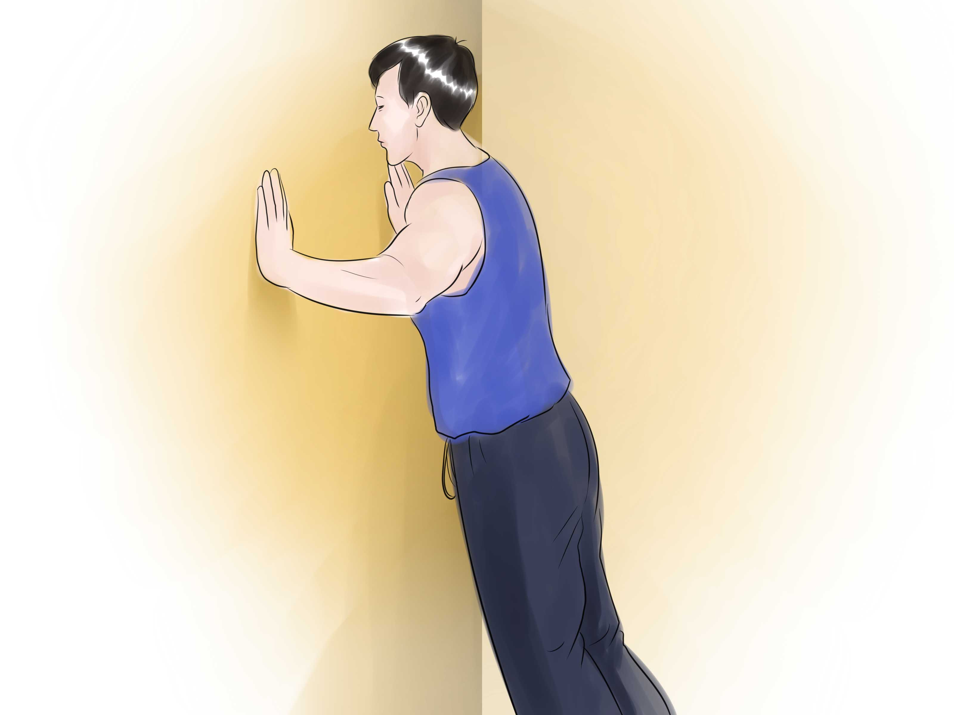 Clip Art Push Ups Do A Wall Push Up Step 4 Jpg