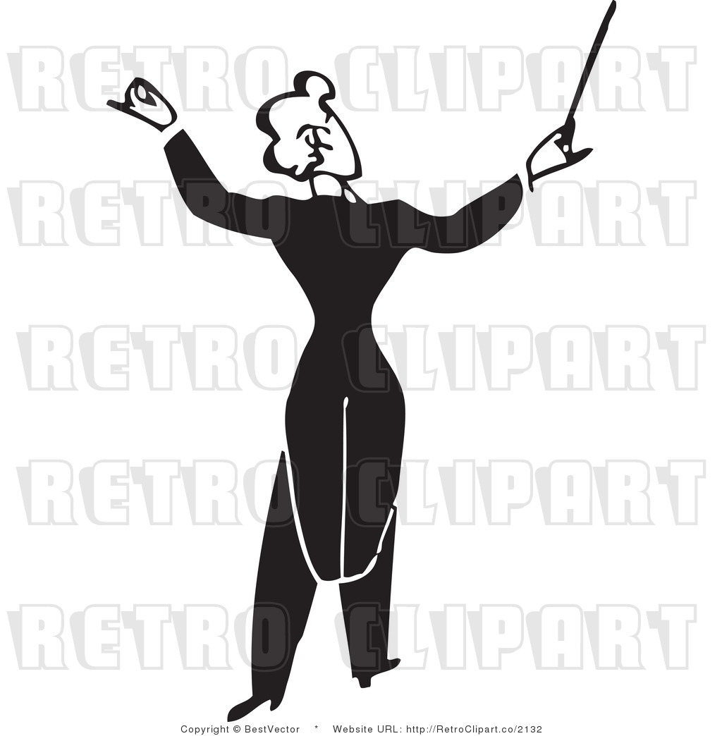 Free Black And White Retro Vector Clip Art Of A Composer By Bestvector