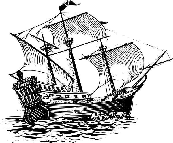 Galleon Sail Ship Clip Art At Clker Com   Vector Clip Art Online