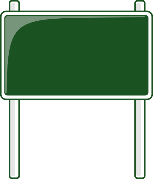 Green Road Sign Clip Art At Clker Com   Vector Clip Art Online