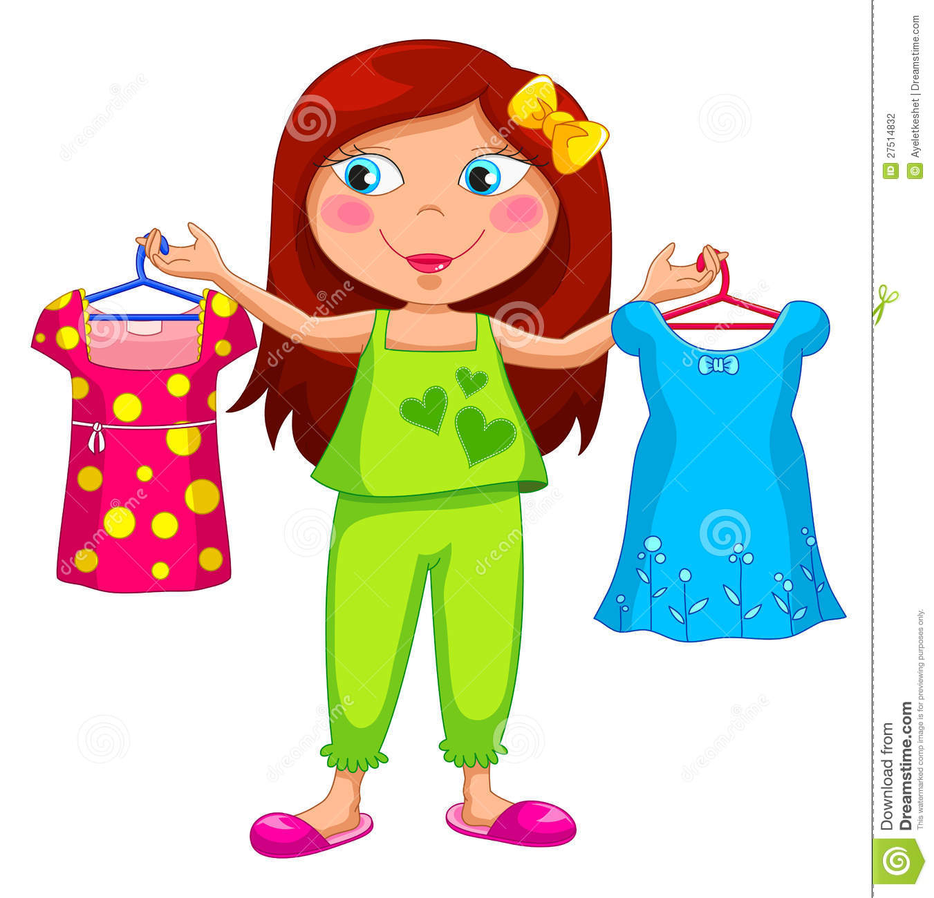 Little Girl Getting Dressed Clipart   Cliparthut   Free Clipart