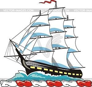 Clip Art Sailing Ship