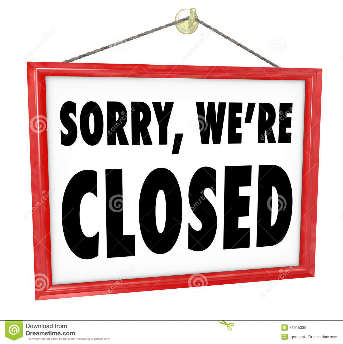 Sorry Were Closed Clipart Clipart Suggest