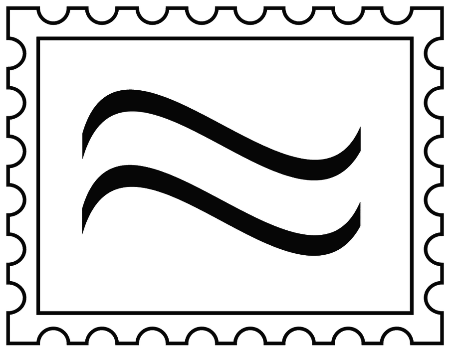 Postage Stamp Black And White Clipart - Clipart Suggest