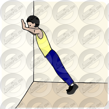 Ups Picture For Classroom   Therapy Use   Great Wall Push Ups Clipart
