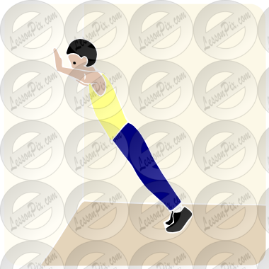 Ups Stencil For Classroom   Therapy Use   Great Wall Push Ups Clipart