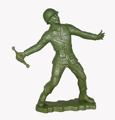 Army Man   18 Inch Green Signed Edition  At Kid Robottoy Soldiers