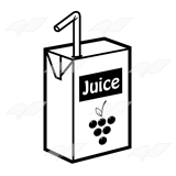 Beka Book    Clip Art    Grape Juice Box With A Yellow Straw