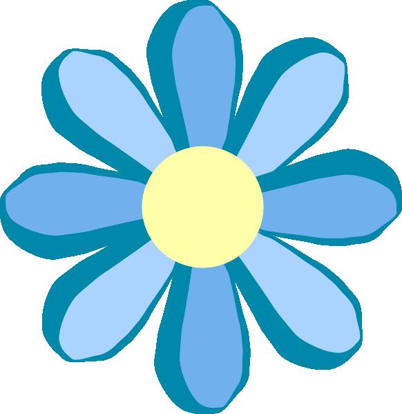 Clip Art Blue Fllower Clipart - Clipart Kid