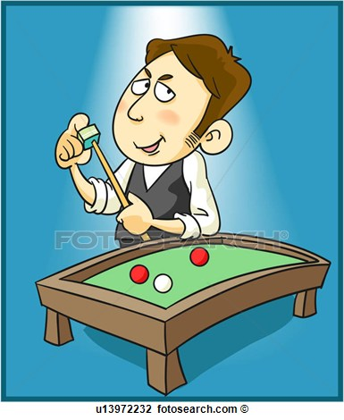 Clip Art   Chalking A Pool Stick  Fotosearch   Search Clipart