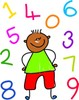 Clipart Image Of Three Cute Little Kids Holding Numbers Counting Clip