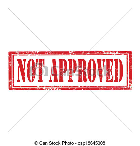 Clipart Of Not Approved Stamp   Grunge Rubber Stamp With Text Not
