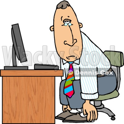 Computer Tired Clipart - Clipart Kid